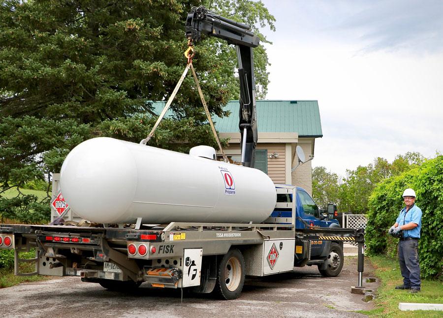 Propane Installation, large Kelly's Propane tank